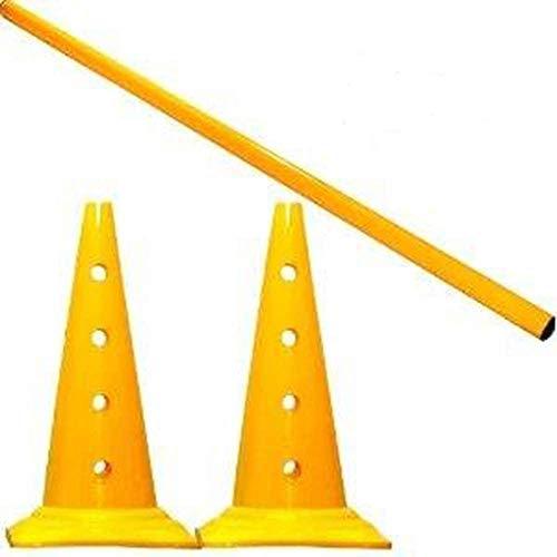 5er Set Trainingshürden, gelb - 10x MZK: 50 cm, 5x Stange: 80 cm