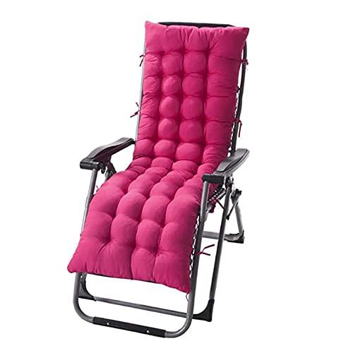 Pteng Outdoor Stuhlkissen Stuhlkissen Lounge-Kissen, Dickes doppelseitiges einfarbiges Liegekissen Weiches und bequemes Bürostuhlkissen Home Verschiedene Größen, kein Stuhl (rosarot, 125x48x8)