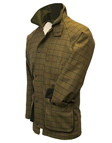 Walker and Hawkes Herren Country-Jacke aus Tweed - für die Jagd geeignet - Beige - 5XL