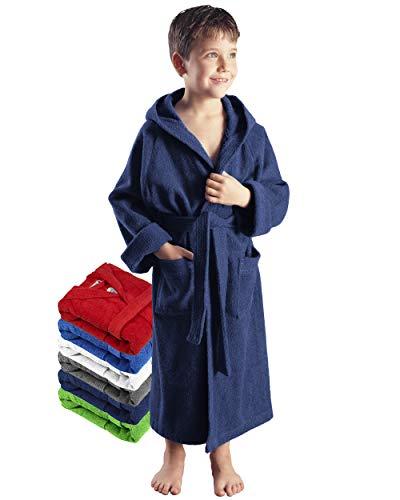 Arus-Enfants Peignoir, Couleur : Bleu Marine, Taille: 116