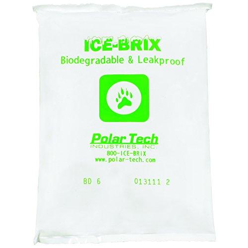 Partners Brand PIBB6 Ice Brix - Paquetes biodegradables, 6 oz, 170 x 10 x 3/4 pulgadas, color blanco (paquete de 96)