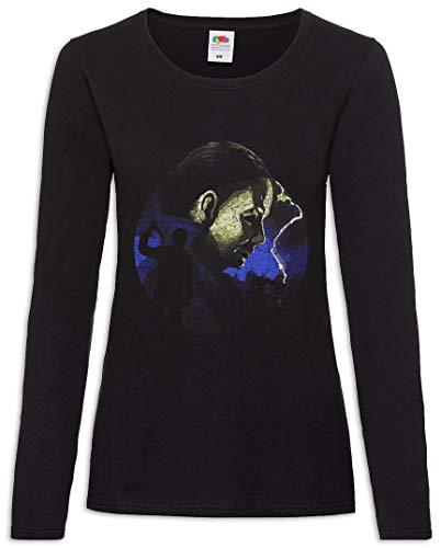 Urban Backwoods Myers Lightning Damen Langarm T-Shirt Schwarz Größe L