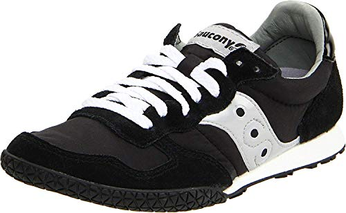 Saucony womens Bullet Sneaker, Black/Silver, 7.5 M US