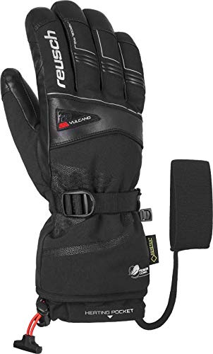 Reusch Herren Volcano GTX Handschuhe, Black/fire red, 9.5