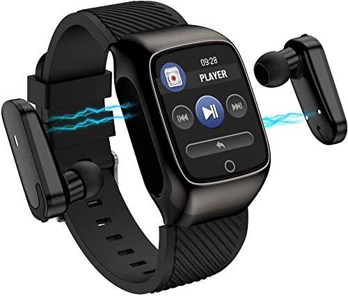 Reloj Inteligente 1.3 Pulgadas Recordatorio Multifunción Auricular Bluetooth Portátil Dos en Uno Separado Huella Táctil Deportes Pulsera Inteligente Exquisita