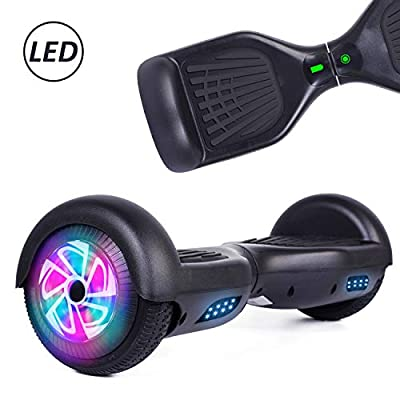 YHR Hoverboard with LED Light Two-Flashing Wheel Electric Self Balancing Scooter with UL2272 Certified for Kids and Adult