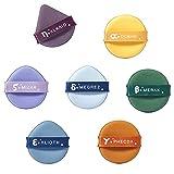 bebelife 7 piezas Esponja Redonda Triangular Puff Belleza Cara Esponjas Adecuado para el maquillaje mineral en polvo suave, herramientas de maquillaje húmedo y seco (Big Dipper)