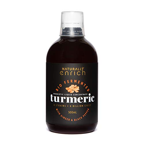 Turmeric Bio Fermented Liquid Concentrate -Natural Probiotic Liquid to Restore Digestive enzymes Balance,Intestinal Health, Support Immune System. Made in Australia 500ml