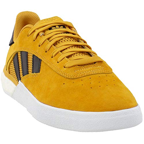 adidas x Miles Silvas 3ST.004 (Tactile Yellow/Core Black/Gold Metallic) Men's Skate Shoes-10