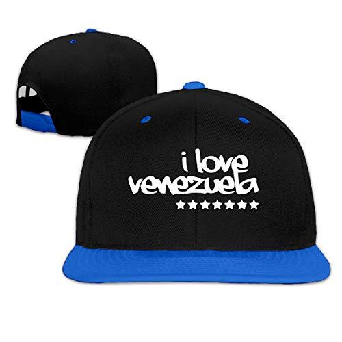 Snapback Hat I Love Venezuela Gorra con Visera Gorra De Camionero Gorra De Béisbol con Estampado Sombreros De Béisbol Protección Solar Gorra De Golf Ajustable Deporte