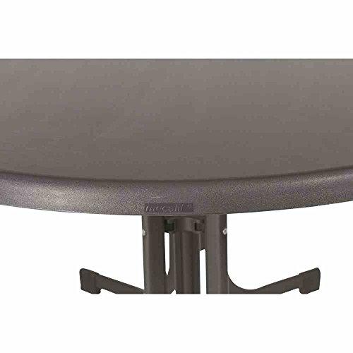 Sieger 252/G Boulevard-Klapptisch mit mecalit-Pro-Platte 140 x 90 cm, Stahlrohrgestell eisengrau, Tischplatte Schieferdekor anthrazit - 2