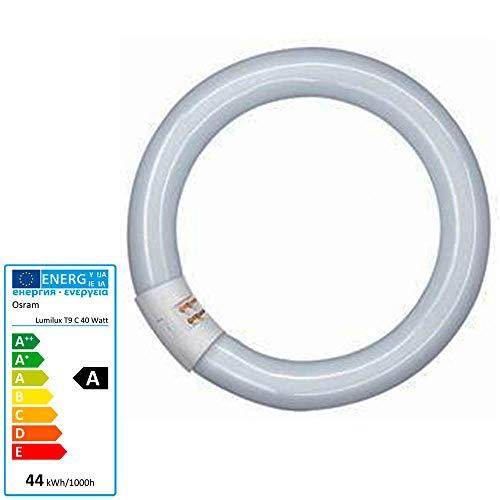 Osram Lumilux T9 Tubo Fluorescente GR10q, 40 W, Blanco (Cool White), 40.6 cm