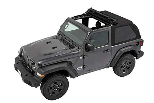 Trektop Soft Top for The 2-Door Jeep Wrangler JL (2018-Current) in Black Twill