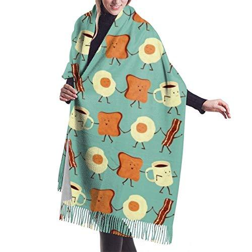 Bufanda con Flecos, Tapiz, Manta, Accesorios de Vestidos, Vamos Todos y desayunamos Bufandas largas y cálidas envuelven Pashmina Chal Estola