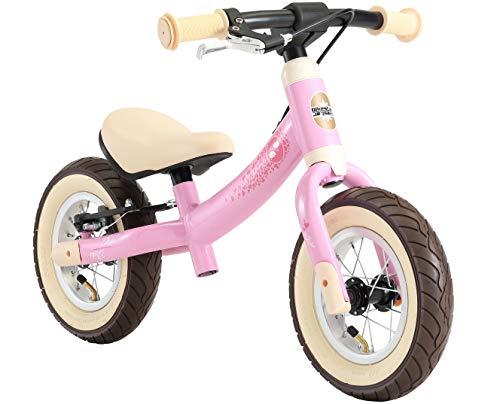BIKESTAR Kinder Laufrad Lauflernrad Kinderrad für Mädchen ab 2-3 Jahre | 10 Zoll Sport Kinderlaufrad | Rosa | Risikofrei Testen