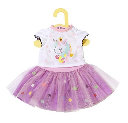 Zapf Creation 870495 Dolly Moda Einhorn Shirt mit Tutu, Puppenkleidung 39-46 cm