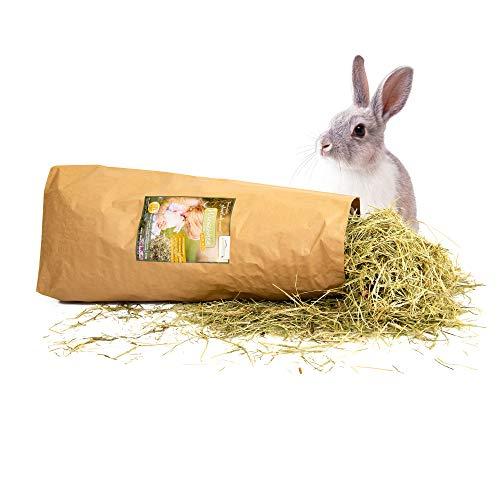 Dein Heuboden Bio Heu 1.Schnitt 1.5kg Wiesenheu mit Blüten und Kräutern für Kaninchen Hasen und Nager
