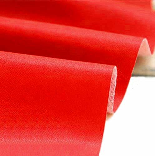 A-Express Manualidades, de Polipiel para tapizar, Venta de Polipiel por Metros, Tejido de Piel sinttica, Piel sinttica, Rojo (Longitud 200cm x Ancho 140cm