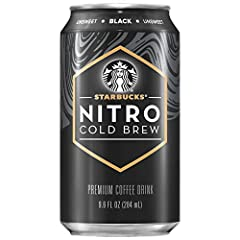 Includes 8 (9.6oz) cans of Starbucks Nitro Cold Brew, Black Unsweetened flavor Our cold brew is infused with nitrogen the moment you open it, creating a rush of creamy texture and velvety smooth taste. Gently tilt the can once, pop open, and pour int...