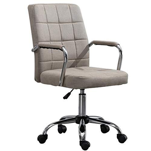 XYF Ergonomischer Bürostuhl Drehstuhl Lendenwirbelstütze Höhenverstellbarer Arbeitsstuhl Leise Rollen Aus Aluminiumlegierung Maximale Kapazität 150 Kg (Color : Gray, Size : 46 * 46 * 86-94 cm)