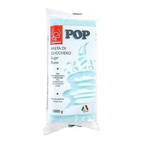 Pasta Di Zucchero Colorata Pop 1 kg Modecor - azzurro