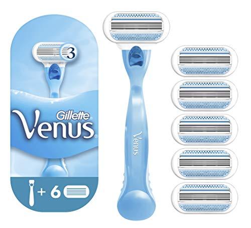 Gillette Venus Smooth Rasoio Donna + 6 Lamette di...