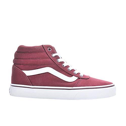 Vans Unisex-Erwachsene Ward Hi Hohe Sneaker, Rot ((Canvas) Burgundy Olq), 38 EU