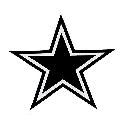 Cowboys Star Black Decal Vinyl Sticker Cars Trucks Vans Walls Laptop  Black  5.5 x 5 in LLI558