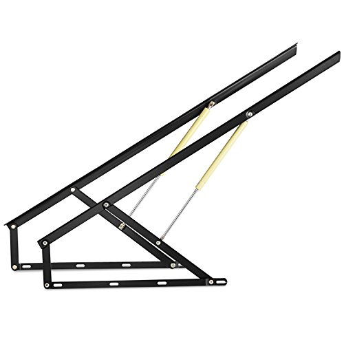 Happybuy Pair of 4FT Pneumatic Storage Bed Lift Mechanism Heavy Duty Gas Spring Bed Storage Lift Kit for Box Bed Sofa Storage Space Saving DIY Project Lifter Lift Up Hardware Black (B120)