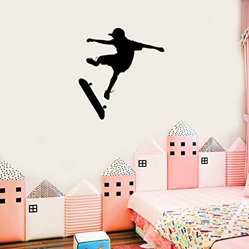 Skateboarding Wall Sports Decal Sticker Decor Kids Boy Room Sala de juegos Dormitorio Arte Sala de juegos