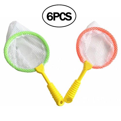TOYMYTOY 6 Stück Kinder Kescher Fischernetz Entdeckerspielzeug für Outdoor (zufällige Farbe)