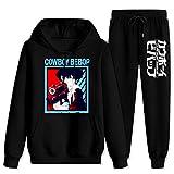 CAPINER Adult Co-wb-oy Be-bo-p SPI-ke Tracksuit Sets Hoodies Sweatsuit Sweatpants Outfit Sweater Set for Women Men Women-XL/Men-L Black