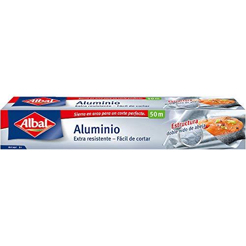 Albal Papel de aluminio, extra-resistente, fácil de cortar, 50 m