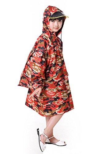 coréen mignon enfant imperméable Mode enfants pluie Rouge Camouflage M