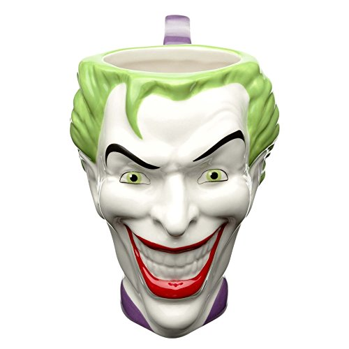 Zak Designs DC Comics Coffee Mugs, Sculpted, Batman Joker