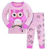 SAMGU Bambine Pigiama 2 Pezzi Pigiama Cotone Maniche Lunghe per Ragazze Pajama Set per Bambini 3-8 Anni