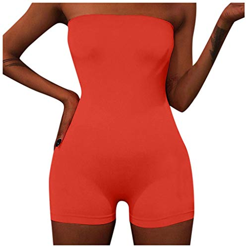 Great Price! Xia&Han Women's Sexy Tops Shoulder Off Backless Solid Color Suit Strapless Open Back Sp...