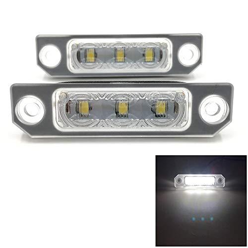 Luces de matrícula de Coche Lámpara de Placa de número LED Sin Error LED Lámpara de Placa de la Placa Compatible con Ford Flex Taurus Mustang Focus Fusion 2006-2012 Universal