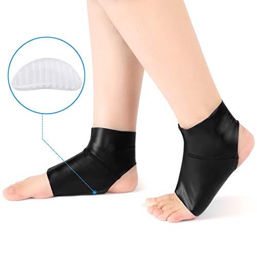 Doact Fußgewölbe mit Knöchelschutz, Compression Flat Foot Socken Lycra-Stoff mit Gel-Einsätzen, Orthetisches Einlegesohle-Kissen für Damen und Herren Plantar Fasciitis, Ferse, Bogen Schmerzlinderung