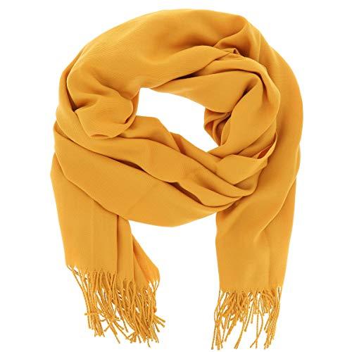 Pashmina amarilla para mujer, bufanda