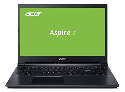 Acer Aspire 7 (A715-75G-70BG) 39,6 cm (15,6 Zoll Full-HD mit IPS matt) Multimedia/Gaming Laptop (Intel Core i7-9750H, 16 GB RAM, 1.000 GB PCIe SSD, NVIDIA GeForce GTX 1650Ti, Win 10 Home) schwarz
