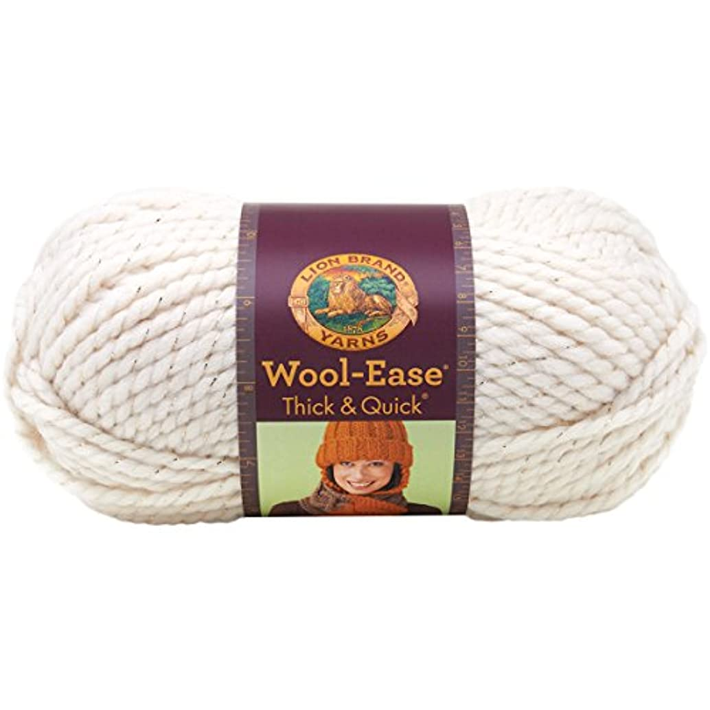 Lion  640-308 Wool-Ease Thick & Quick Yarn , 97 Meters, Starlight
