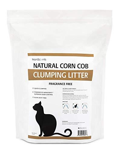 NonScents Natural Corn Cob Clumping Cat Litter Odor Control (14 Pounds)