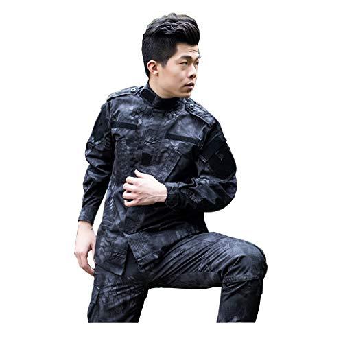 ALLIWEI Esercito Military Uniforme fan, uitgerust met lange mouwen overhemd en broek met meerdere zakken, geschikt voor tactische vrijetijdsactiviteiten, jachtpak