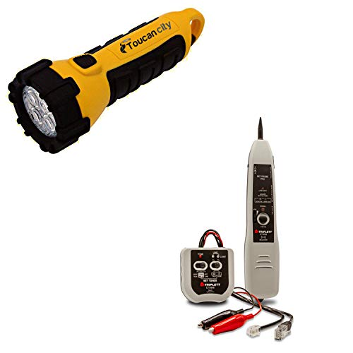 Toucan City LED Flashlight and TRIPLETT Tone and Probe Kit CTX690