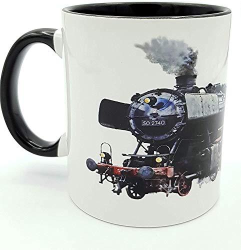 Kilala Kaffee-Tasse Eisenbahn Lokomotive Dampflok personalisierte Namenstasse Geschenk-Verpackung Geburtstag Lokführer