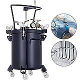 VEVOR 20L Pressure Feed Paint Pot Tank 5 Gallon Spray Gun Sprayer Regulator Air Agitator with Manual Mixing Agitator