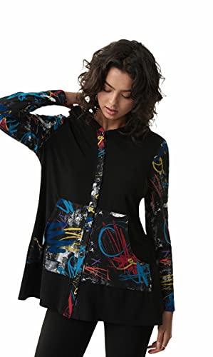 Joseph Ribkoff Black/Multi Tunic Style 213109 (16)