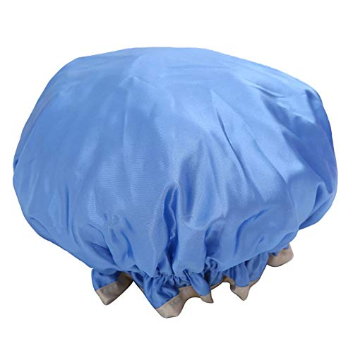 HJKGSVdv Bonnet de Douche de Cuisine Épaissir Anti-fumée Double Imperméable Bonnet de Bain Double Couche de Bain Cheveux Chapeau Bleu Ciel