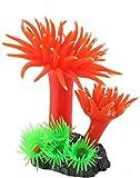 Día de San Valentín romántico Decoraciones del tanque de los peces, decoración de la planta Coral de silicona, coral de silicona de acuario, simulación de base de cemento de coral para tanques de pece